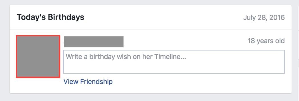 Facebook Birthday Automated Prompt