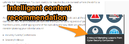 Intelligent content recommendations aka pop ups drive traffic